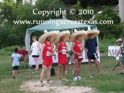 2009 HARRA Cross Country Relay awards ceremony