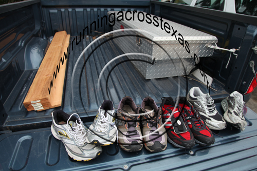 Brooks, Adidas, and New Balance Running Shoes; photo courtesy Kelly Smith