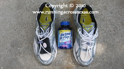 Brooks running shoes and Osteo-Bi-Flex reduce runners knee