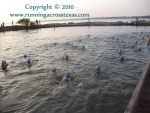 2010 Clear Lake Triathlon swim start