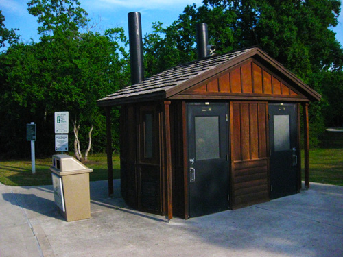 Excellent bathroom facilities at the Clear Creek Nature Center; photo © KSmith Media, LLC