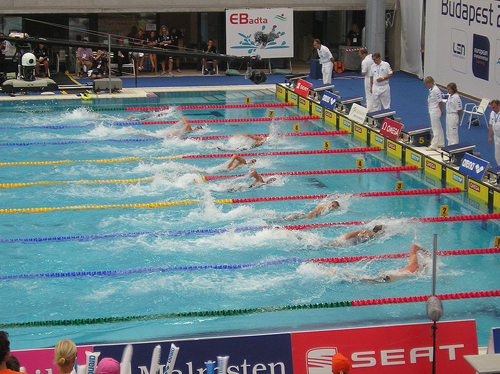 Freestyle swimming competition; photo courtesy McSmit