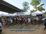 The Bayou City Running Club race tent