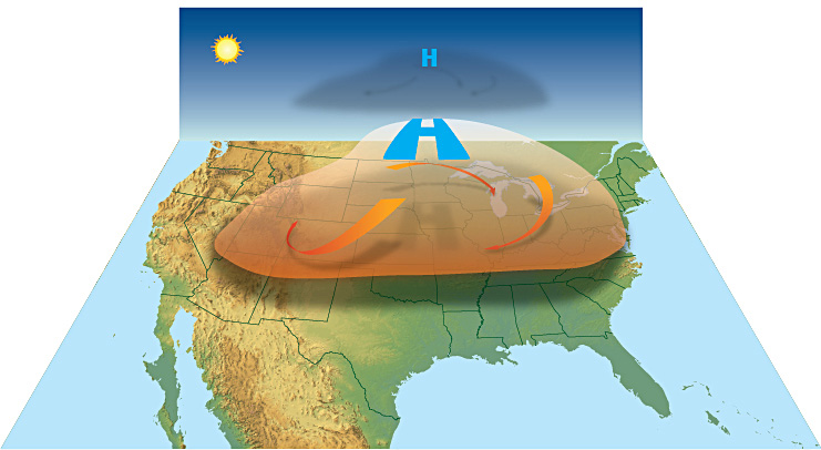 How a heat wave forms; photo courtesy NOAA