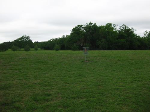 Frisbee golf at Jack Brooks Park