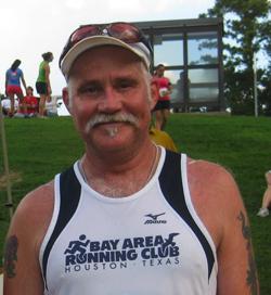Kelly Smith at the Houston HARRA relay race; photo © Kelly Smith