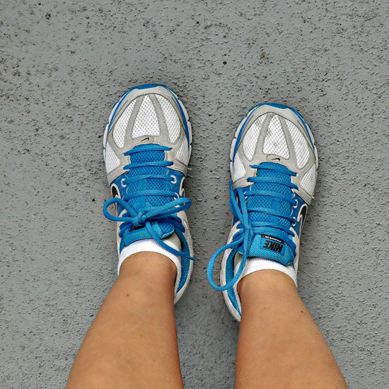 New running shoes; photo courtesy Michelle Rebecca