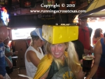 Nica as the Cheesehead