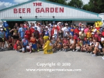 Runners in front of Carlos Beer Garden