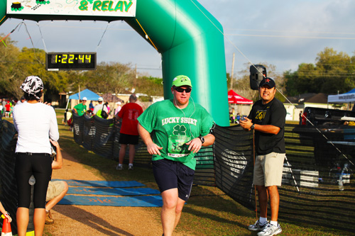Seabrook Lucky Trail Marathon finish line; photo © KSmith Media, LLC