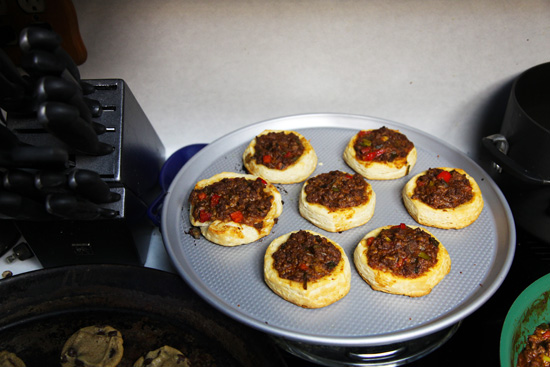 Sloppy Joe biscuit cups; photo courtesy Kelly Smith