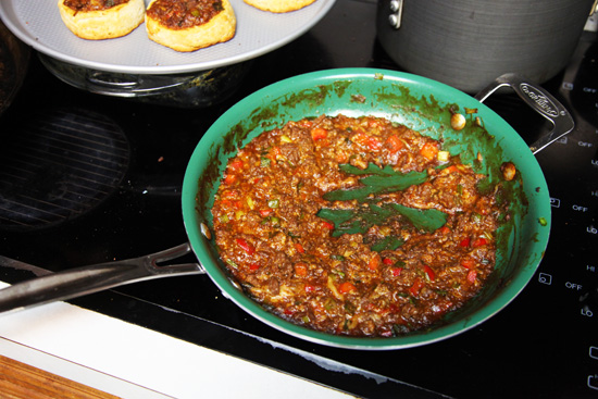 Sloppy Joe biscuit cups mixture; photo courtesy Kelly Smith